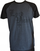 LORD VICAR Charcoal/Black T-shirt Black Logo