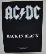 AC/DC Back In Black Backpatch - 30 cm x 36,3 cm