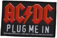 AC/DC - Plug Me In - 10,4 cm x 7 cm - Patch