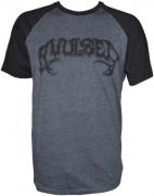 AVULSED Charcoal/Black T-shirt Black Logo