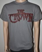 THE CROWN charcoal T-Shirt with black and red Logo