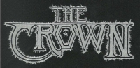 THE CROWN White Logo 14,5 x 7,5 cm WOVEN PATCH (o266a)