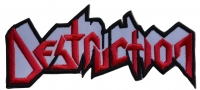 DESTRUCTION - Logo Cut-Out - 12,2 cm x 5,8 cm - Patch