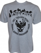 DESTRUCTION - 100 % Thrasher - Black-Print on Grey-Gildan-T-Shirt