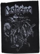 DESTRUCTION - Born To Thrash Band White - 7,2 cm x 10,4 cm - Patch