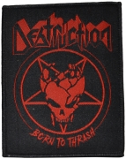 DESTRUCTION - Born To Thrash Pentagram Red - 8 cm x 10 cm - Patch