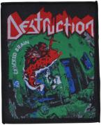 DESTRUCTION - Cracked Brain - 9,7 cm x 11,7 cm - Patch