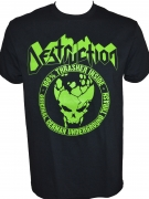 DESTRUCTION - 100 % Thrasher - Green-Print on Black-Gildan-T-Shirt