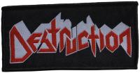 DESTRUCTION - Logo - 10 cm x 5,2 cm - Patch