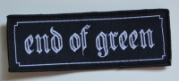 END OF GREEN - Logo - 11,6 cm x 4,3 cm - Patch