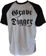 GRAVE DIGGER Logo - Fruit Of The Loom Baseball-T-Shirt