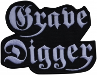 GRAVE DIGGER - Logo Cut Out - 10,3 cm x 8,3 cm - Patch