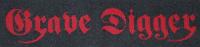 GRAVE DIGGER Logo Patch gewebt 14,5 cm x 4 cm (o266a)