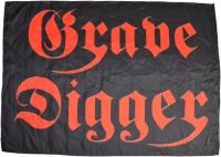 GRAVE DIGGER Logo Textil-Posterflagge