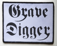 GRAVE DIGGER Black-Logo White-Patch