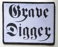 GRAVE DIGGER Black-Logo White-Patch