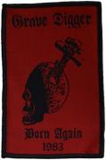 GRAVE DIGGER - Born Again - 6,7 cm x 10,2 cm - Patch