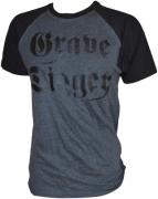 GRAVE DIGGER Charcoal/Black T-shirt Black Logo