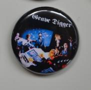 GRAVE DIGGER War Games Button (o263)