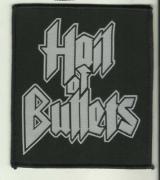 HAIL OF BULLETS Logo Gewebter Aufnaeher 11 cm x 9,5 cm (o266a)