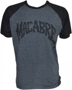 MACABRE Charcoal/Black T-shirt Black Logo