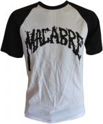MACABRE White/Black T-shirt Black Logo