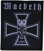 MACBETH - 1985-Kreuz - 8,7 cm x 10,2 cm - Patch