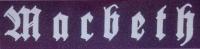 MACBETH Schriftzug Patch
