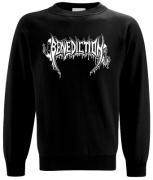 BENEDICTION Old School Logo Sweatshirt L (o219)