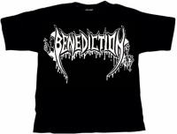 BENEDICTION Old School Logo T-Shirt S (o217)