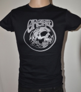 ORCHID Skull Grey Girlieshirt