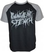 PUNGENT STENCH Grey-Logo Black-Grey-Sols-Raglan-T-Shirt