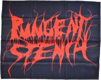 PUNGENT STENCH Logo Textil-Posterflagge