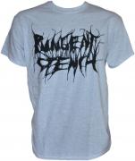 PUNGENT STENCH Black-Logo Grey-Gildan-T-Shirt