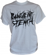 PUNGENT STENCH Black-Logo White-Gildan-T-Shirt