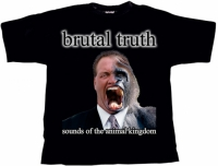 BRUTAL TRUTH Sounds Of The Animal Kingdom T-Shirt SMALL (o353)