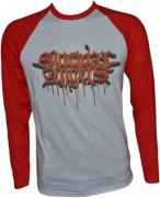 SUICIDAL ANGELS Bloody Logo Baseball-Longsleeve