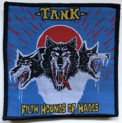 TANK - Filth Hounds Of Hades - 9,8 cm x 10,2 cm - Blue-Background - Patch