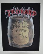 TANKARD Beer Barrel Backpatch - 30 cm x 36,3 cm