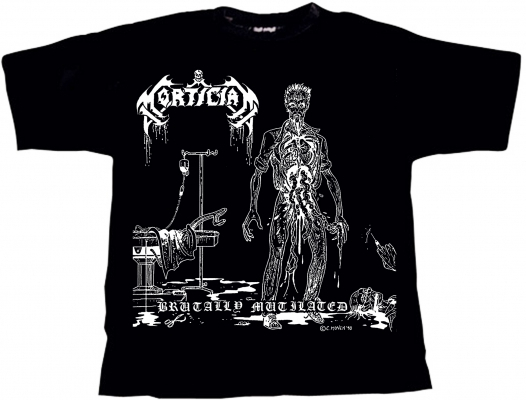 MORTICIAN Brutally Mutilated T Shirt XL O310