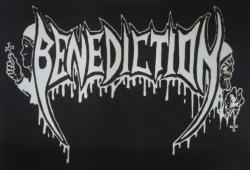 BENEDICTION Logo Textilposterflagge
