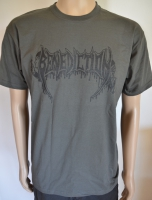 BENEDICTION Logo graues T-Shirt