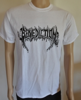 BENEDICTION Logo white T-Shirt