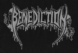 BENEDICTION Logo GEWEBTER AUFNAEHER 13,4 cm x 9,3 cm (o266a)